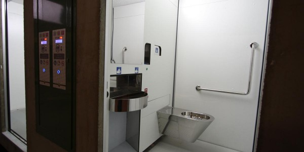 self cleaning toilet - interiors