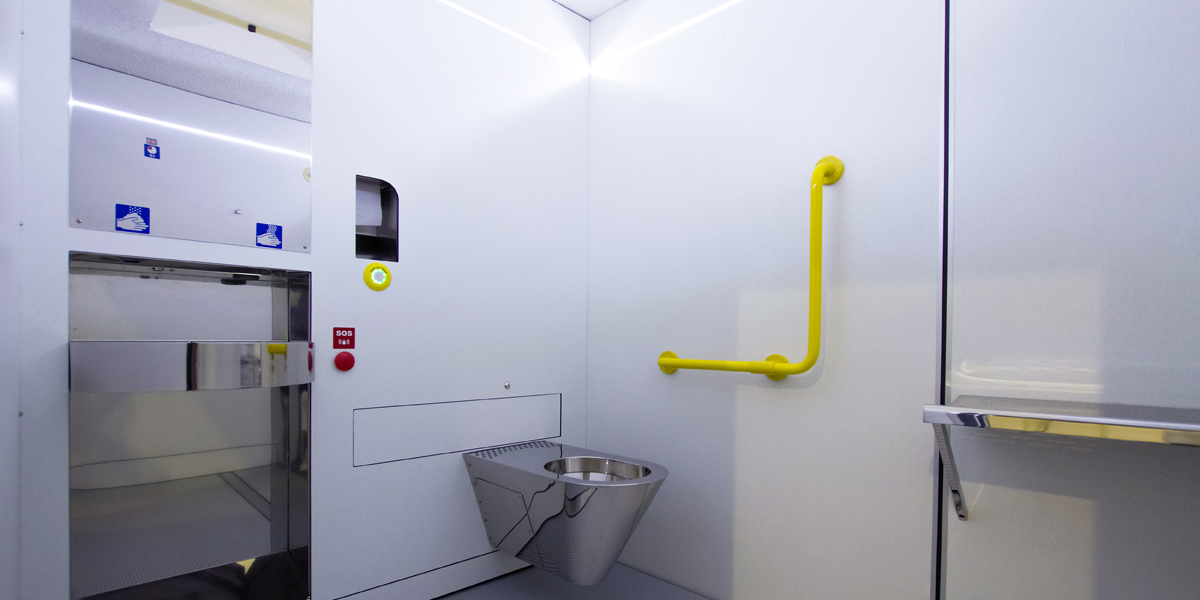 selbstreinigender Sanitärraum Modell: TBOX